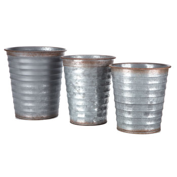 Ribbed Metal Containers